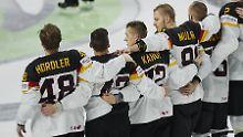 """Hier ist es gut zu sehen: Frank """"Hordeler"""" und Moritz """"Muller"""" spielen für Deutschland."""
