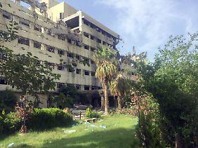 Im Salam-Krankenhaus herrscht absolute Verwüstung.