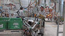 Arbeiter im VW-Werk in Puebla in Mexiko.