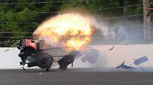 Unfall-Horror beim Indy 500: Bourdais crasht mit 300 km/h in die Bande