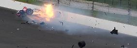 Glück trotz Crash und Feuer: Bourdais-Unfall überschattet Indy 500