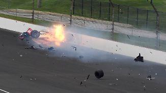 Schock beim Indy500: Franzose Bourdais bei Horror-Crash schwer verletzt