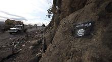 Das gefürchtete Erkennungszeichen von Ansar al-Scharia wird in Libyen wohl bald nicht mehr zu sehen sein.