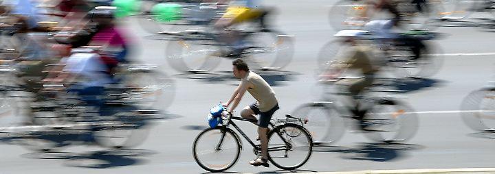 Radfahrer müssen nicht immer den Fahrradweg benutzen.