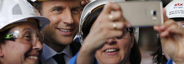 """Macron im Höhenflug: """"En Marche"""" nimmt Kurs aufs Parlament"""