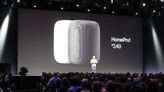 Mit Siri und gutem Klang: Apple präsentiert smarten Lautsprecher HomePod
