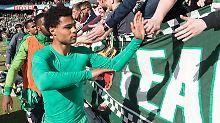 Tschüss, Werderaner! Nach einem Jahr in Bremen verabschiedet sich Serge Gnabry bereits wieder.