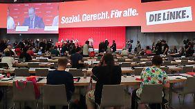 Beim Parteitag will sich die Linke für die Bundestagswahl aufstellen.
