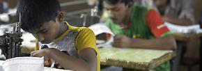 Besonders große Probleme in Asien bereitet die Textilindustrie: In Bangladesch, zunehmend aber auch in Myanmar, sind Kinder damit beschäftigt, Billigkleidung für den Export zu nähen.