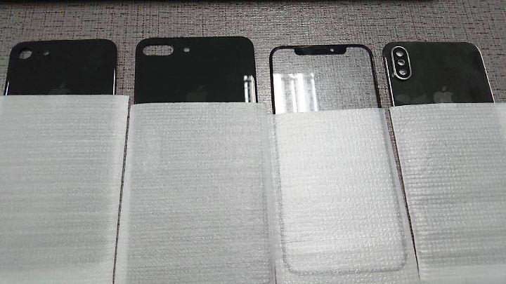 Alle drei neuen iPhones nebeneinander.