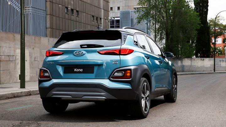 Auch am Heck des Hyundai Kona sorgen sehr dynamische Linien für Eigenwilligkeit.