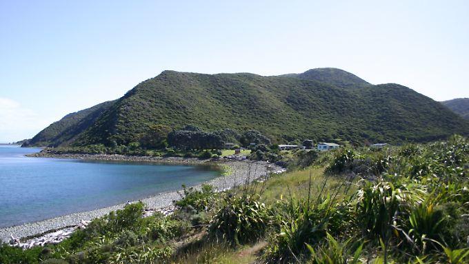 Die Kapiti-Insel befindet sich etwa 8 Kilometer vor der Westküste des südlichen Teils der Nordinsel Neuseelands.