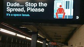 Nicht breitbeinig sitzen ...
