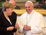 Privataudienz im Wahlkampf: Papst bricht für Merkel mit eherner Regel