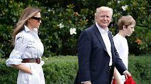 Wochenende auf Regierungsdatsche: Trump führt Melania nach Camp David aus