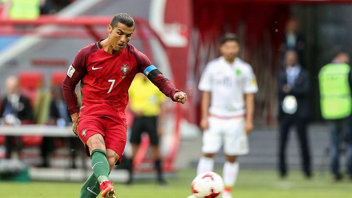 Erst in die Mauer, dann an die Latte: Für Ronaldo lief es gegen Mexiko nur so semi.