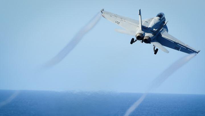 In Syrien hat ein US-Jet vom Typ F/A-18E (hier ein Archivbild) ein syrisches Kampfflugzeug abgeschossen.