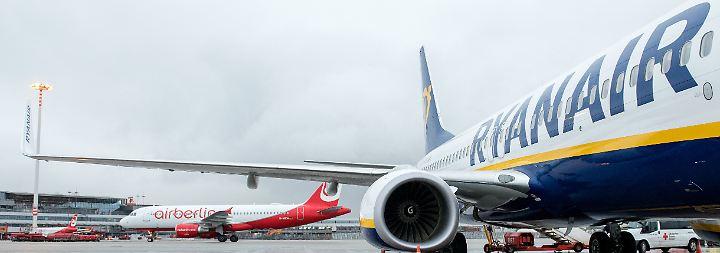 Interesse an Flugrechten: Ryanair trommelt gegen Air-Berlin-Übernahme durch Lufthansa