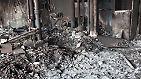 Selbst die Zwischenwände fraß das Feuer regelrecht weg, zurück blieben die nackten Leitungen.