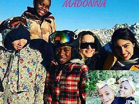 Madonna mit ihren Rackern.