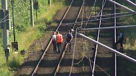Ermittlungen auf den Gleisen in Hamburg.