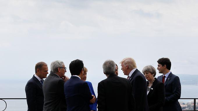Beim G7-Gipfel in Taormina hatten sich die Staatschefs nicht auf einen Konsens beim Klima einigen können.