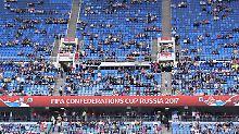 Das Interesse am Weltmeister hielt sich extrem in Grenzen - 28.605 Zuschauer sollen die Partie gegen Australien verfolgt haben.