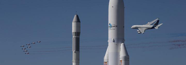 … ist auch in diesem Jahr ein Kampf der Bilder zwischen Airbus und dem US-Konkurrenten Boeing.
