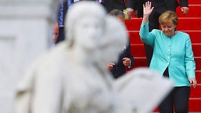 Kanzlerkandidaten auf Werbetour: Merkel und Schulz buhlen um Gunst der Industrie