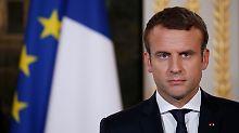 Bei Einsatz von Chemiewaffen: Macron droht mit Luftschlägen in Syrien