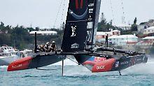 US-Team bei America's Cup vorn: Oracle-Katamaran fährt ersten Sieg ein