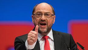 """""""Menschen können uns vertrauen"""": Kämpferischer Schulz begeistert Genossen auf dem Parteitag"""
