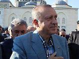 Recep Tayyip Erdogan muss in Hamburg auf seine ganz harten Jungs verzichten.