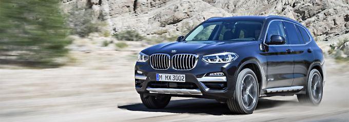 Viel hat sich beim neuen BMW X3 nicht an der Außenhaut im Vergleich mit dem Vorgänger geändert.