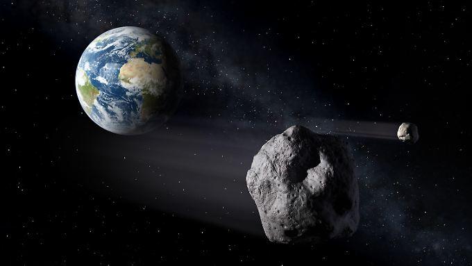 Durchschnittlich alle 100.000 Jahre trifft ein Asteroid von 400 Metern Durchmesser auf die Erde.