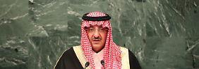 Bin Naif beliebt in den USA: Saudischer Kronprinz offenbar unter Arrest