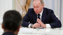 Präsident Wladimir Putin empfing Außenminister Gabriel zum dritten Mal innerhalb von vier Monaten.