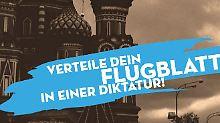 """Tod dem Diktator"": Aktivisten verteilen Flugblätter im Gezi-Park"