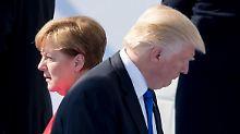 Treffen vor G20-Gipfel: Merkel und Trump führen ein Vorgespräch