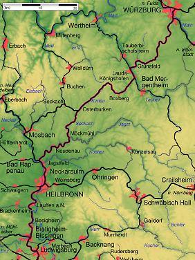 Von Stuttgart nach Würzburg: Die Strecke der Frankenbahn verbindet die Landeshauptstadt Baden-Württembergs mit Unterfranken.