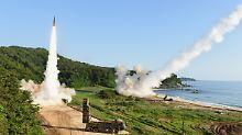 Wenige Kilometer von der innerkoreanischen Grenze entfernt, zündeten die USA und Südkorea Raketen.