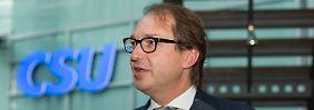 """Interview mit Alexander Dobrindt: """"Staatsverachtung ist Teil grüner Ideologie"""""""