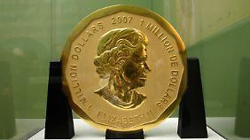 So sah sie mal aus: Die Goldmünze mit ihren 3,75 Millionen Euro Materialwert.