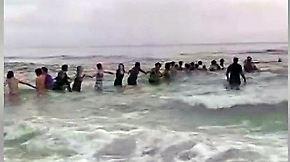Mit Hilfe einer Menschenkette: Badegäste retten neun Schwimmer im Golf von Mexiko
