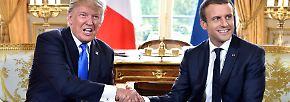 """""""Nichts wird uns jemals trennen"""": US-Präsident Trump besucht Macron in Paris"""