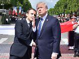 Trump zu Gast in Frankreich: Ziemlich beste Freunde