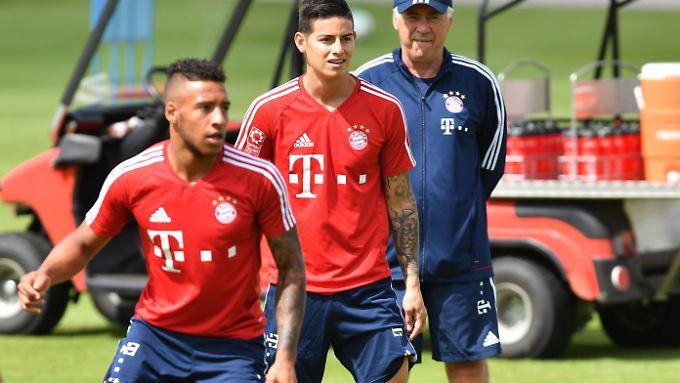 Ein bisschen stolz auf seine Neuzugänge wirkt Bayern-Coach Ancelotti jetzt schon.