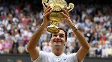 """""""Meine Frau ist komplett einverstanden damit, dass ich noch immer spiele"""": Roger Federer."""