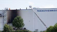Unglück bei Osnabrück: Kühlcontainer explodiert auf Firmengelände