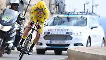 Brite vor viertem Tour-Triumph: Froome jubelt, Bardet zittert sich aufs Podest